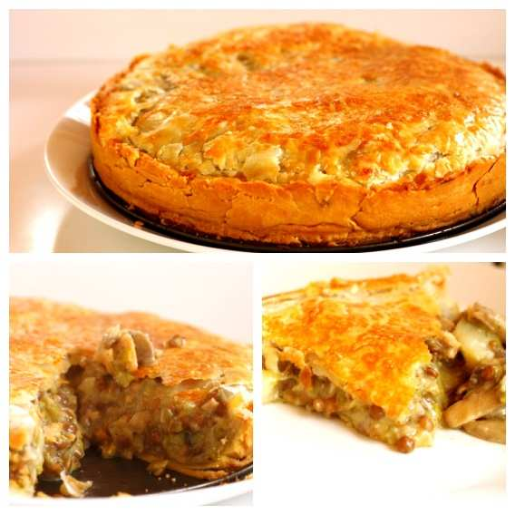 Leek, Mushroom, Potato and Lentil Pie Recipe